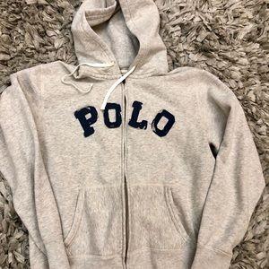 Grey Polo Hoodie